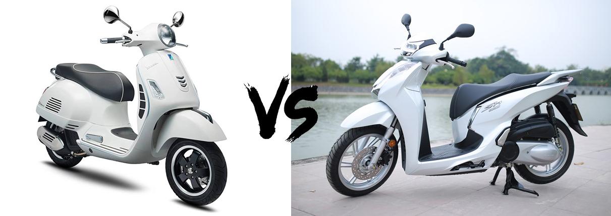 So sánh Vespa GTS với Honda SH